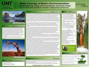 Primary view of object titled 'Media Coverage of Modern Environmentalism'.