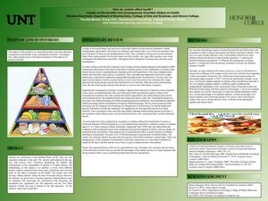 Primary view of object titled 'How do protein affect health? Insight on the benefits and consequences of protein dietary on health'.