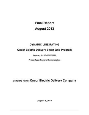 Primary view of object titled 'Dynamic Line Rating Oncor Electric Delivery Smart Grid Program'.