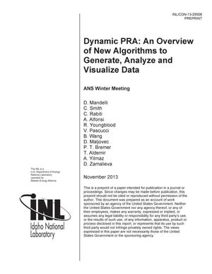Primary view of object titled 'Dynamic PRA: an overview of new algorithms to gene'.
