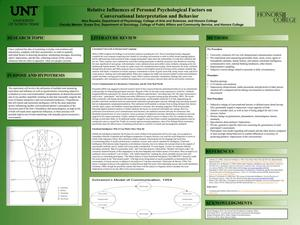 Primary view of object titled 'Relative Influences of Personal Psychological Factors on Conversational Interpretation and Behavior'.