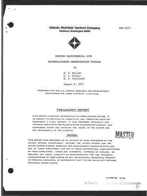 Primary view of object titled 'Hanford radiochemical site decommissioning demonstration program'.