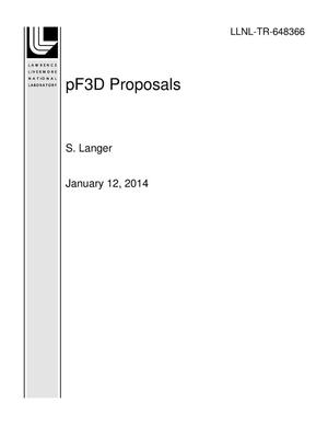 Primary view of object titled 'pF3D Proposals'.