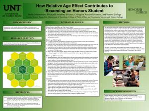 Primary view of object titled 'How Relative Age Effect Contributes to Becoming an Honors Student'.