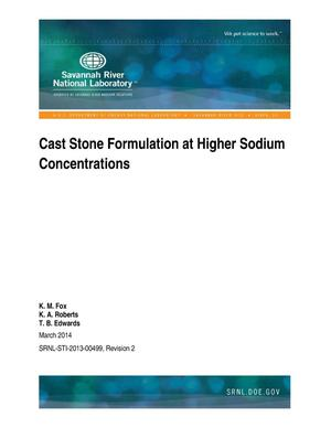 Primary view of object titled 'Cast Stone Formulation At Higher Sodium Concentrations'.