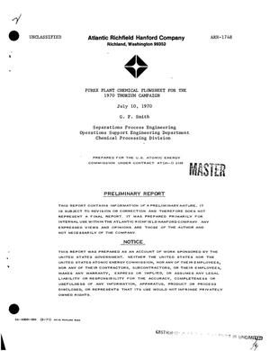 Primary view of object titled 'Purex Plant chemical flowsheet for the 1970 thorium campaign'.