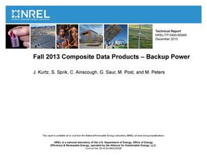 Primary view of object titled 'Fall 2013 Composite Data Products - Backup Power'.