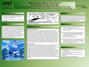 Primary view of object titled 'Effect of Modern Medical Technology on Cost of Health Insurance Coverage'.