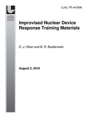 Primary view of object titled 'Improvised Nuclear Device Response Training Materials'.
