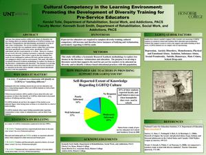 Primary view of object titled 'Cultural Competency in the Learning Environment: Promoting the Development of Diversity Training for Pre-Service Educators'.