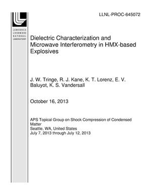 Primary view of object titled 'Dielectric Characterization and Microwave Interferometry in HMX-based Explosives'.