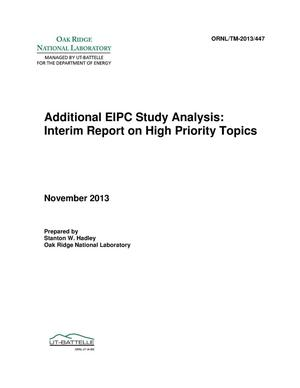 Primary view of object titled 'Additional EIPC Study Analysis: Interim Report on High Priority Topics'.