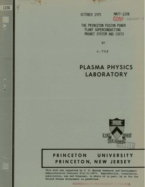 Primary view of object titled 'Princeton Fusion Power Plant superconducting magnet system and costs'.