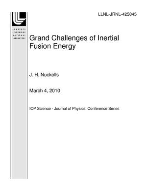 Primary view of object titled 'Grand Challenges of Inertial Fusion Energy'.