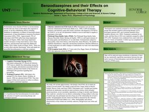 Primary view of object titled 'Benzodiazepines and their Effects on Cognitive-Behavioral Therapy'.