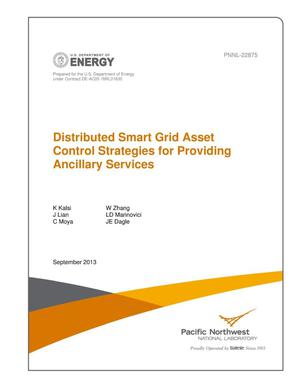 Primary view of object titled 'Distributed Smart Grid Asset Control Strategies for Providing Ancillary Services'.
