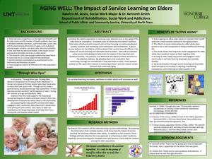 Primary view of object titled 'Aging Well: The Impact of Service Learning on Elders'.