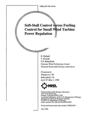 Primary view of object titled 'Soft-Stall Control versus Furling Control for Small Wind Turbine Power Regulation'.