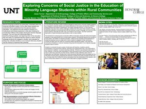 Primary view of object titled 'Exploring Concerns of Social Justice in the Education of Minority Language Students within Rural Communities'.