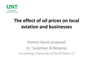 Primary view of object titled 'The effect of oil prices on local aviation and businesses'.