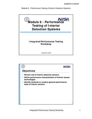 Primary view of object titled 'Integrated Performance Testing Workshop, Modules 6 - 11'.