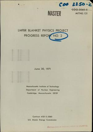 Primary view of object titled 'LMFBR Blanket Physics Project progress report No. 2'.