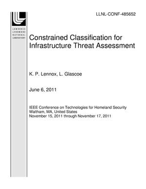 Primary view of object titled 'Constrained Classification for Infrastructure Threat Assessment'.