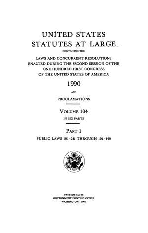 Primary view of object titled 'United States Statutes At Large, Volume 104, 1990'.