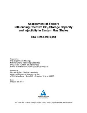 Primary view of object titled 'Assessment of Factors Influencing Effective CO{sub 2} Storage Capacity and Injectivity in Eastern Gas Shales'.