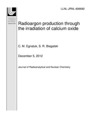 Primary view of object titled 'Radioargon production through the irradiation of calcium oxide'.