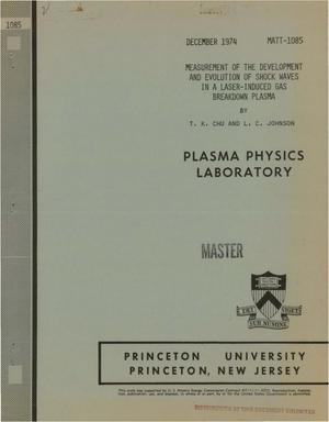 Primary view of object titled 'Measurement of the development and evolution of shock waves in a laser- induced gas breakdown plasma'.