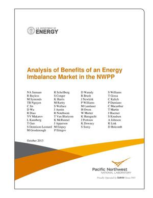 Primary view of object titled 'Analysis of Benefits of an Energy Imbalance Market in the NWPP'.