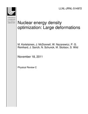 Primary view of object titled 'Nuclear energy density optimization: Large deformations'.