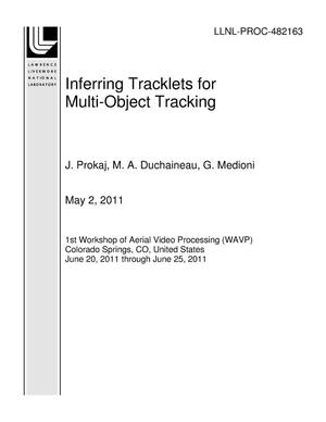 Primary view of object titled 'Inferring Tracklets for Multi-Object Tracking'.