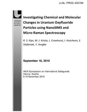 Primary view of object titled 'Investigating Chemical and Molecular Changes in Uranium Oxyfluoride Particles using NanoSIMS and Micro-Raman Spectroscopy'.