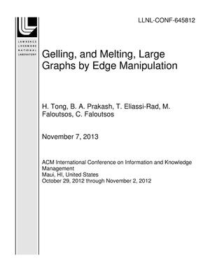 Primary view of object titled 'Gelling, and Melting, Large Graphs by Edge Manipulation'.