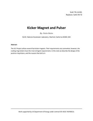 Primary view of object titled 'Kicker Magnet and Pulser'.