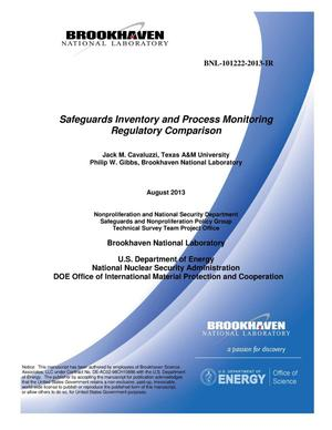 Primary view of object titled 'SAFEGUARDS INVENTORY AND PROCESS MONITORING REGULATORY COMPARISON'.