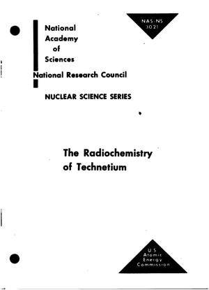Primary view of object titled 'THE RADIOCHEMISTRY OF TECHNETIUM'.