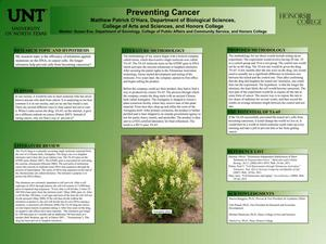 Primary view of object titled 'Preventing Cancer'.
