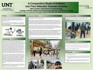 Primary view of object titled 'A Comparative Study of Children and Their Attitudes Towards Violence'.
