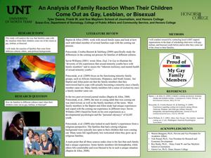 Primary view of object titled 'An Analysis of Family Reaction When Their Children Come Out as Gay, Lesbian, or Bisexual'.
