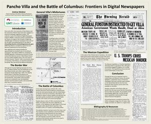 Primary view of object titled 'Pancho Villa and the Battle of Columbus: Frontiers in Digital Newspapers'.