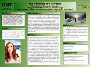 Primary view of object titled 'The Narration in a Narrative'.