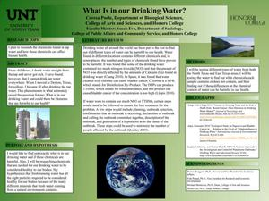 Primary view of object titled 'What Is in our Drinking Water?'.