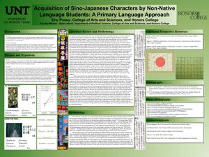 Acquisition of Sino-Japanese Characters by Non-Native Language Students: A Primary Language Approach