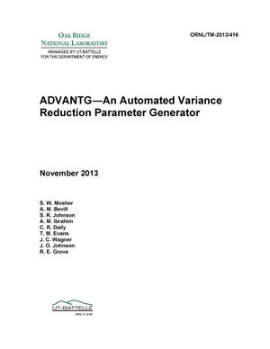 Primary view of object titled 'ADVANTG An Automated Variance Reduction Parameter Generator'.