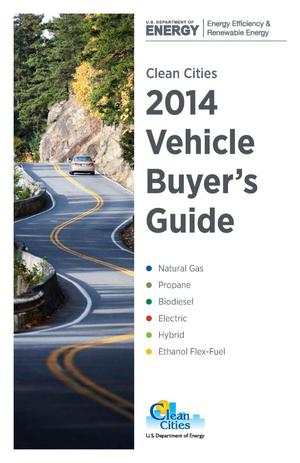Primary view of object titled 'Clean Cities 2014 Vehicle Buyer's Guide (Brochure)'.