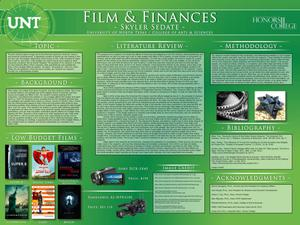 Primary view of object titled 'Film and Finances'.
