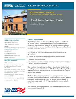 Primary view of object titled 'Hood River Passive House, Hood River, Oregon (Fact Sheet)'.